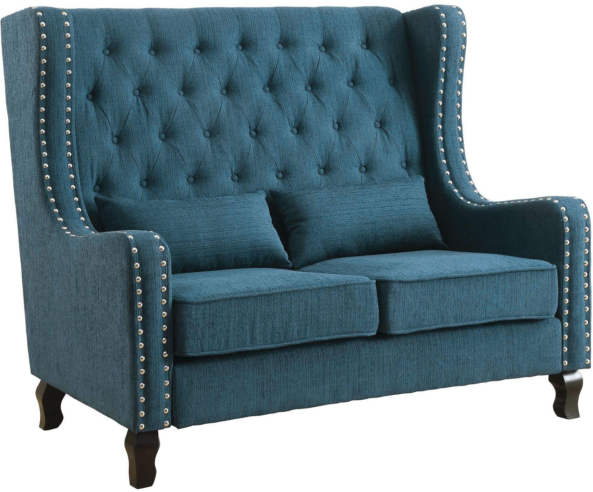 dark teal accent chair pedicure chairs alicante loveseat bench cm bn6449tl pk