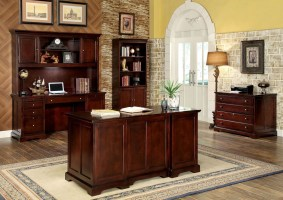 Desmont Cherry Office Desk from Furniture of America CM ...