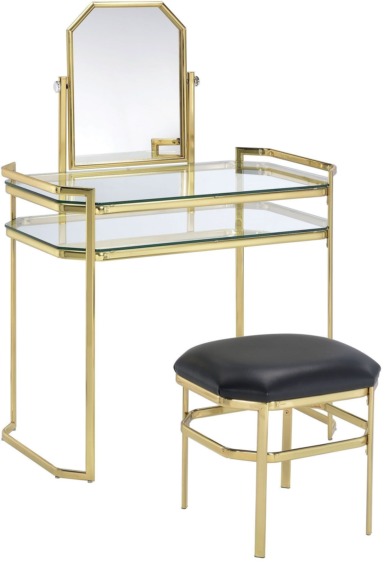 Gold Vanity Chair Colleen Gold Vanity With Stool From Furniture Of America