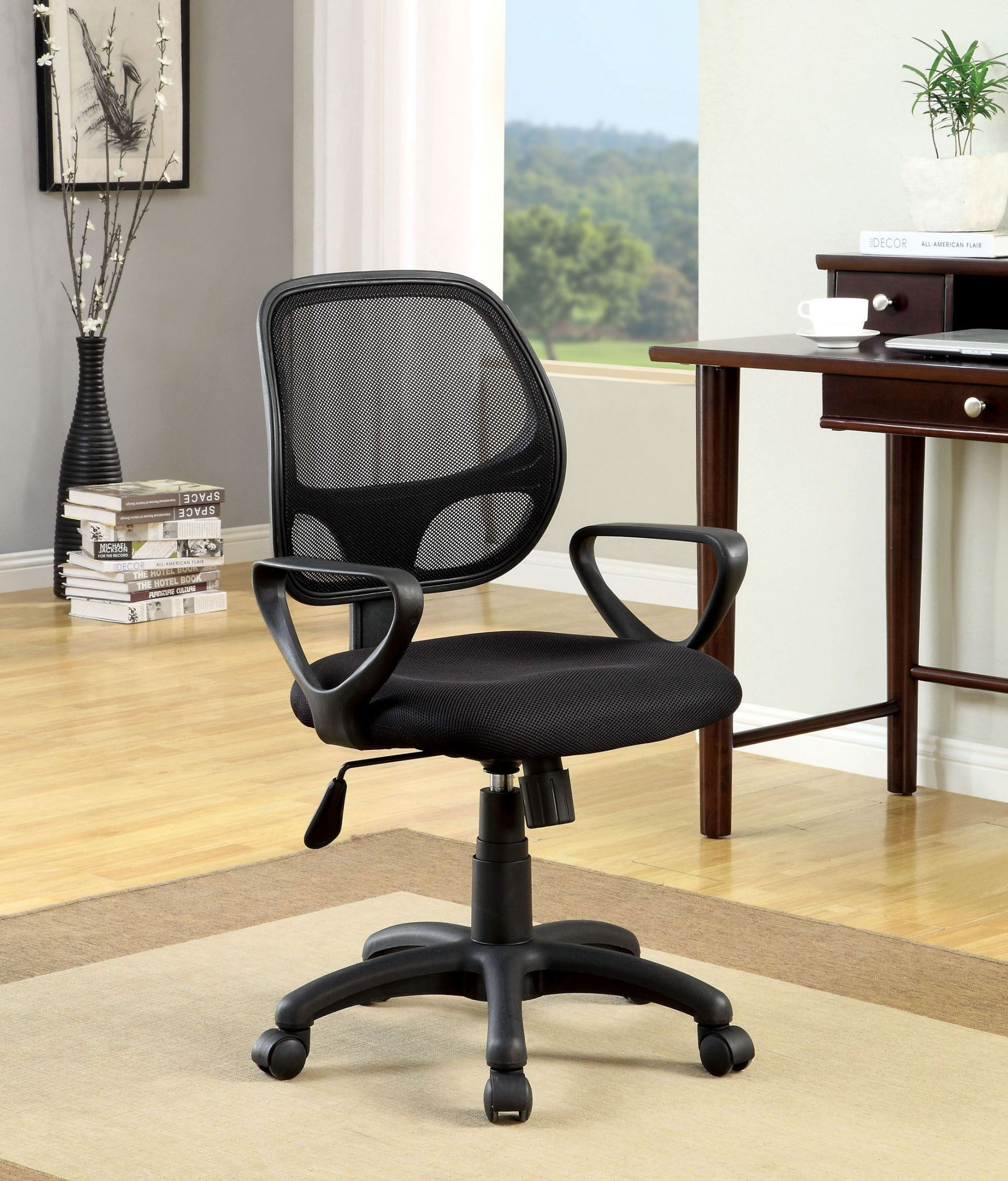 office chair height abbyson living rocking sherman adjustable from furniture of