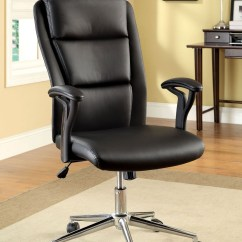 Adjustable Height Chairs Hang Around Chair Pottery Barn Clairton Black Leatherette Office