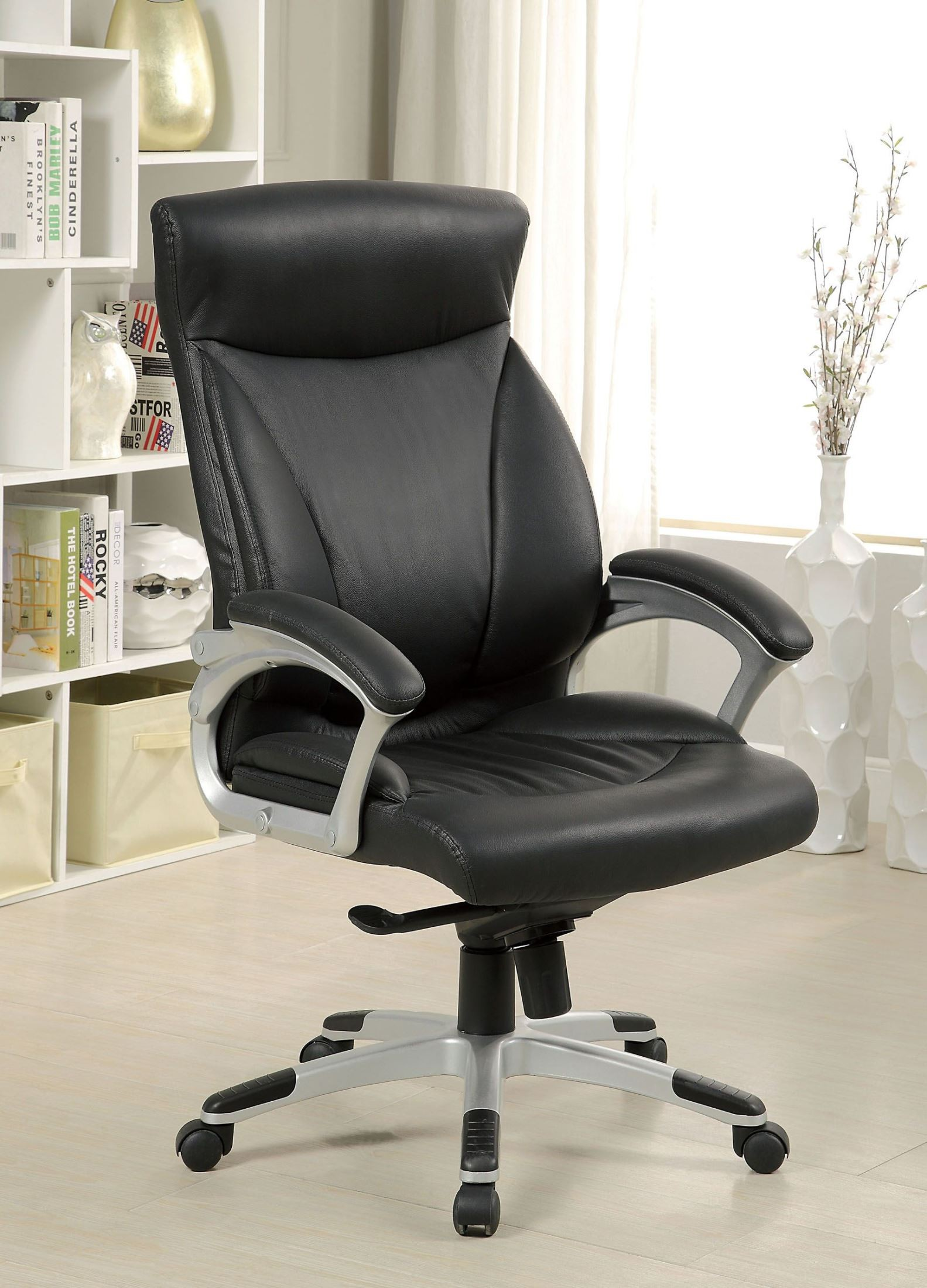 Top Grain Leather Office Chair Orsik Top Grain Leather Match Office Chair From Furniture