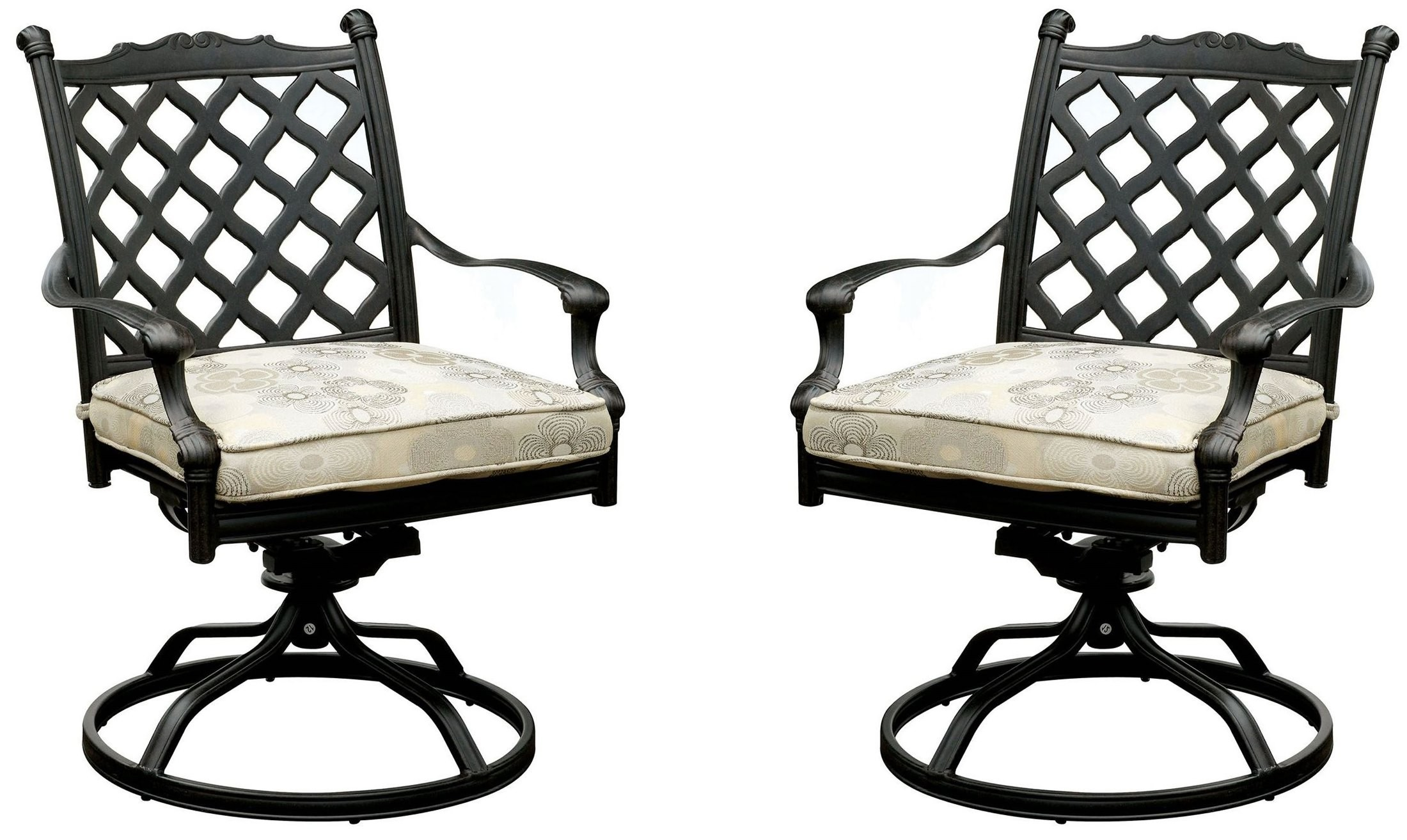 grey fabric swivel office chair stylist chairs wholesale chiara i tan and dark gray rocker set