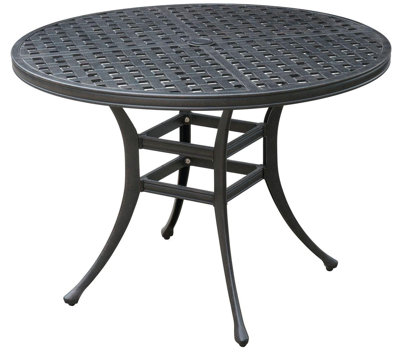 Chiara II Dark Gray Round Patio Dining Table, CM