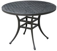 Chiara II Dark Gray Round Patio Dining Table, CM