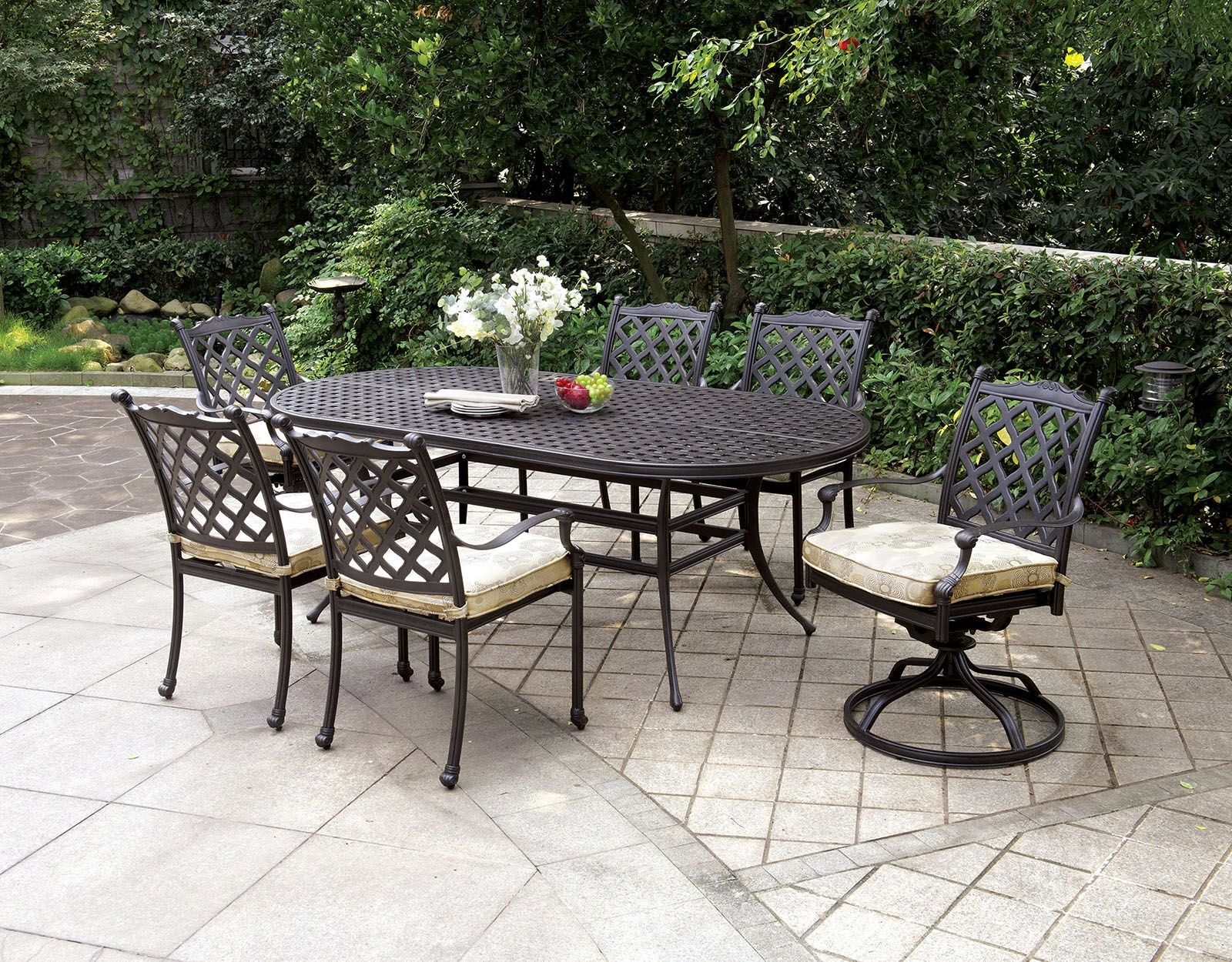 patio chair glides oval fold up lounge outdoor chiara i dark gray dining room set from
