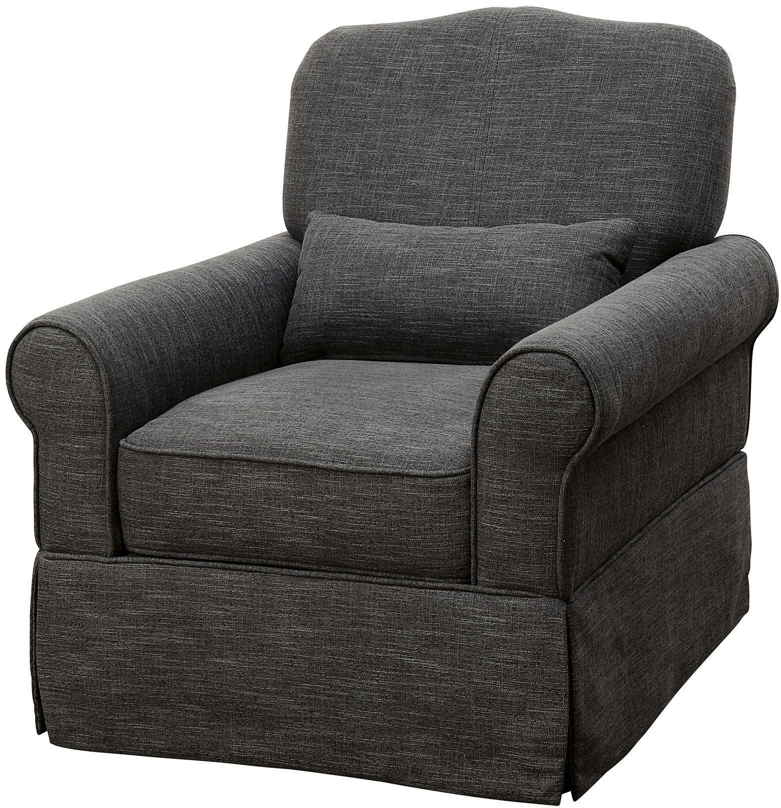 Lesly Dark Gray 360 Swivel Glider Reclining Chair from