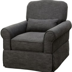 Dark Gray Chair With Accessories Lesly 360 Swivel Glider Reclining From