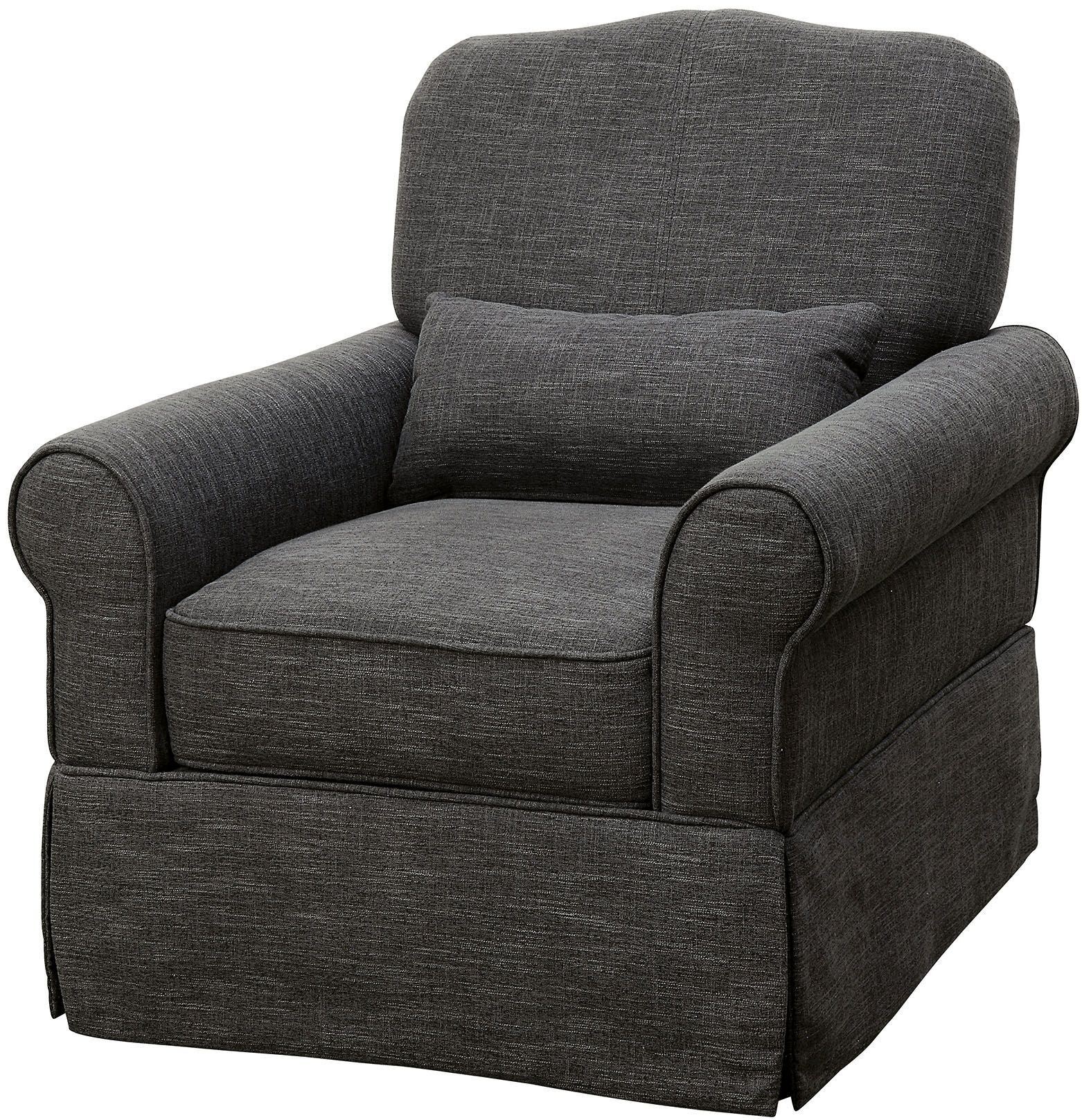 Gray Recliner Chair Lesly Dark Gray 360 Swivel Glider Reclining Chair From