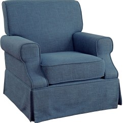 Blue Glider Chair Bedroom Side Leela 360 Swivel And Rocker From Furniture
