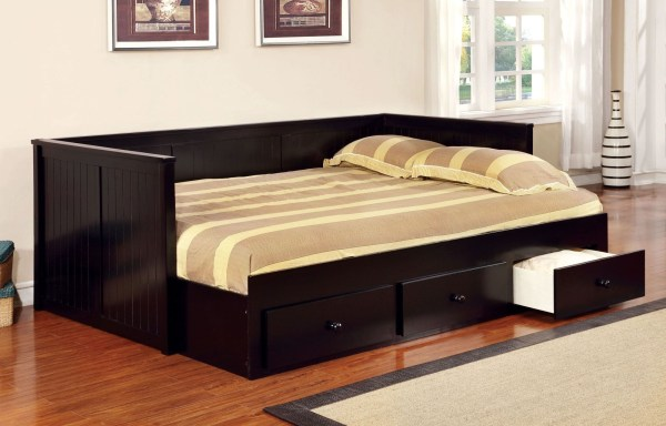 Wolford Black Full Size Storage Daybed Furniture Of