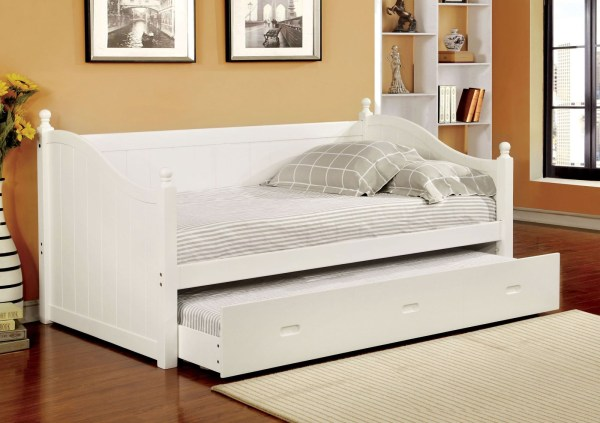 Walcott White Twin Trundle Daybed Furniture Of