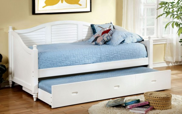 Bel Air White Trundle Daybed Furniture Of America