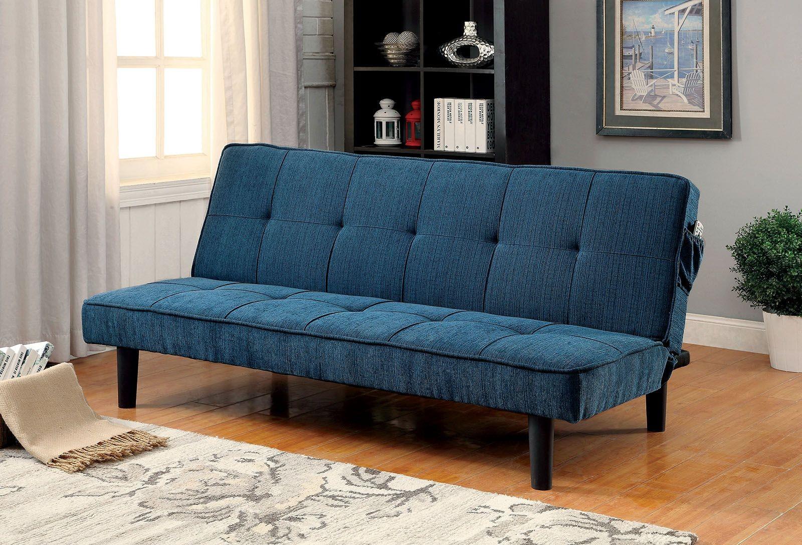 dark teal sofa black garden cover denny futon from furniture of america