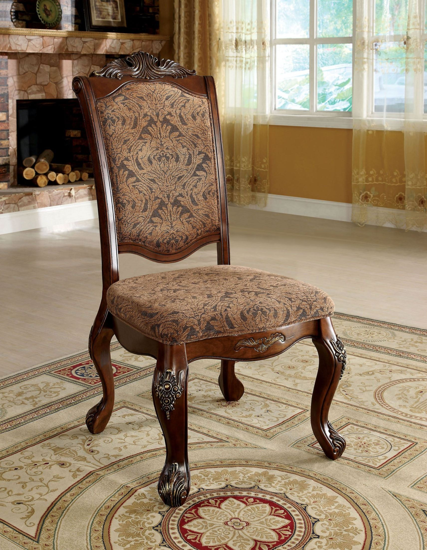 Cherry Chairs Cromwell Antique Cherry Side Chair Set Of 2 From Furniture