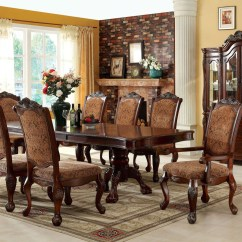 Elegant Dining Room Chairs Ikea Chair With Ottoman Cromwell Antique Cherry Formal Set Cm3103t