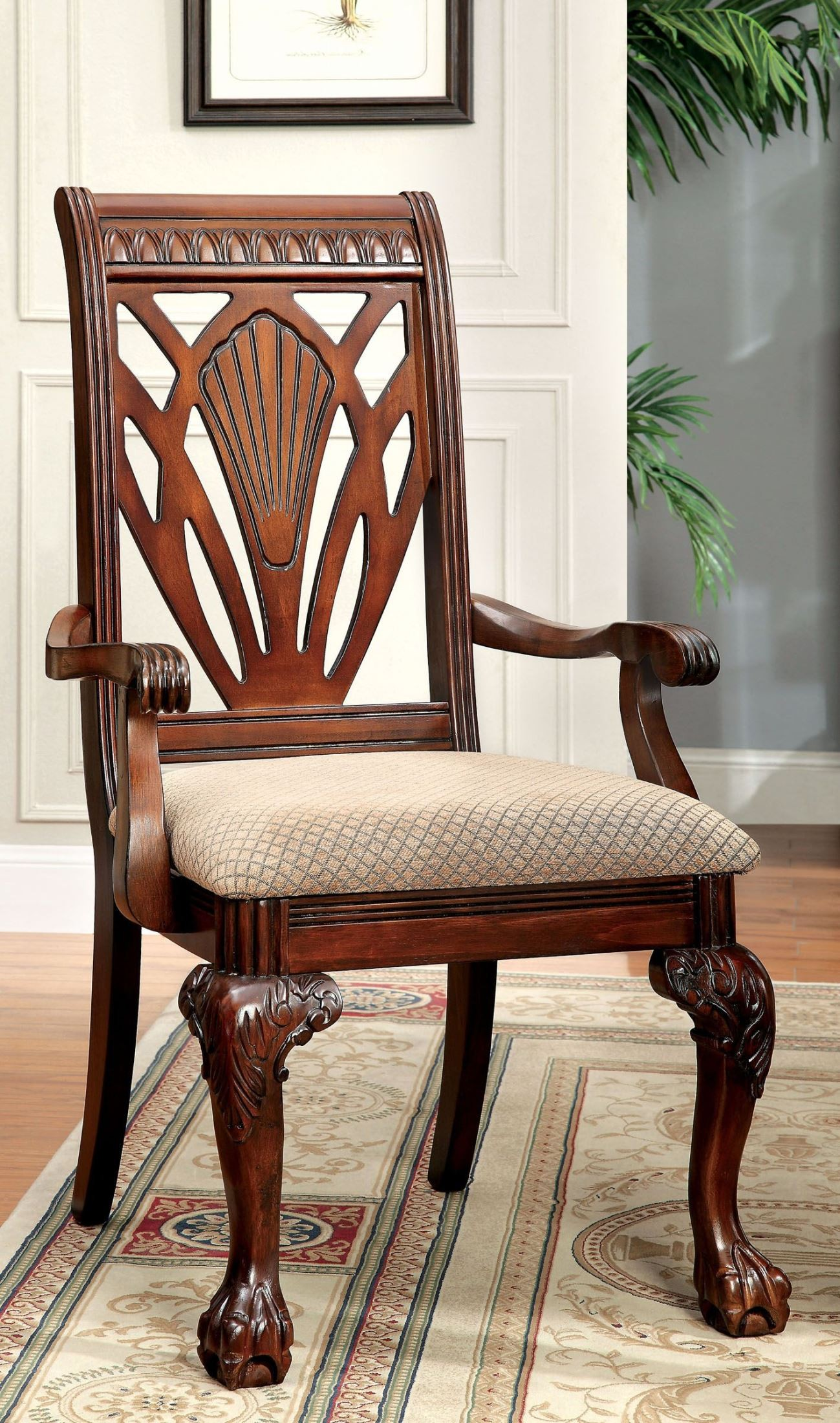Cherry Chairs Petersburg I Cherry Arm Chair Set Of 2 From Furniture Of
