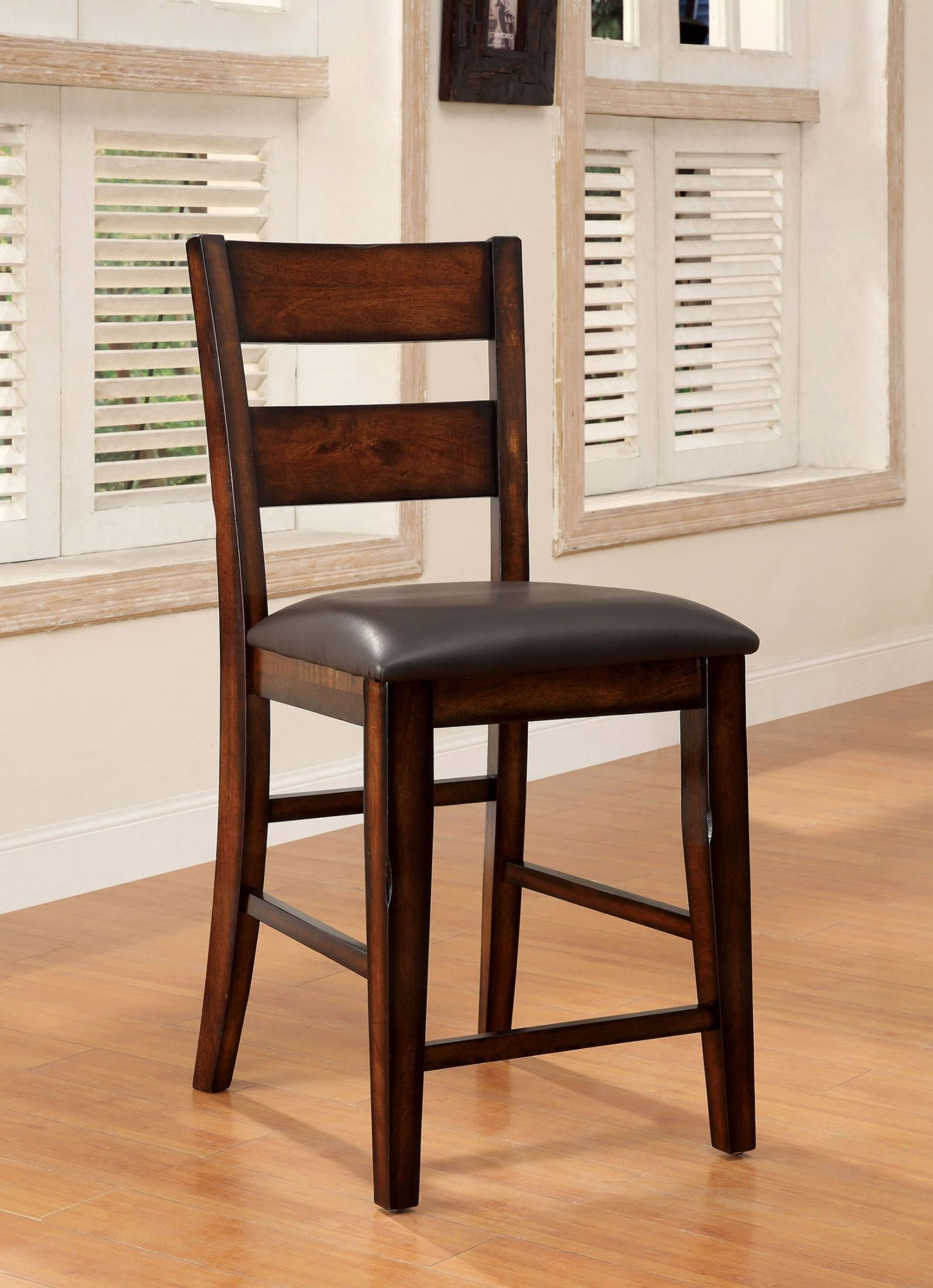 counter height chairs set of 2 extra wide lawn dickinson ii dark cherry chair