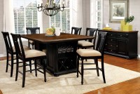 Sabrina Cherry & Black Counter Height Dining Room Set from ...