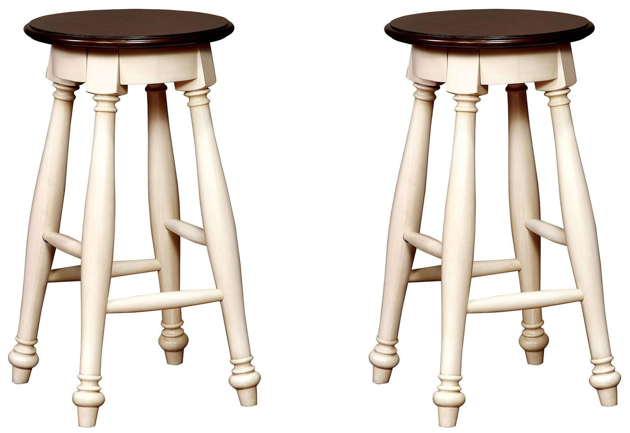 White Counter Height Chairs Sabrina Cherry And White Counter Height Stool Set Of 2 From