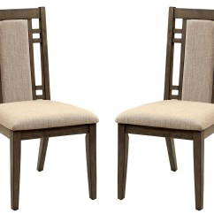 Gray Side Chair Fold Up Beach Chairs Eris I Weathered Set Of 2 From Furniture