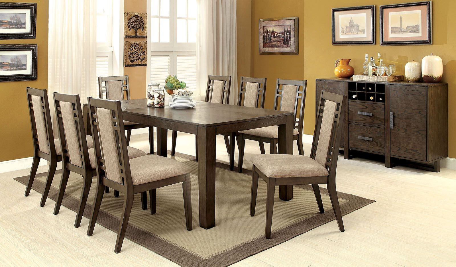 Eris I Weathered Gray Extendable Rectangular Dining Room