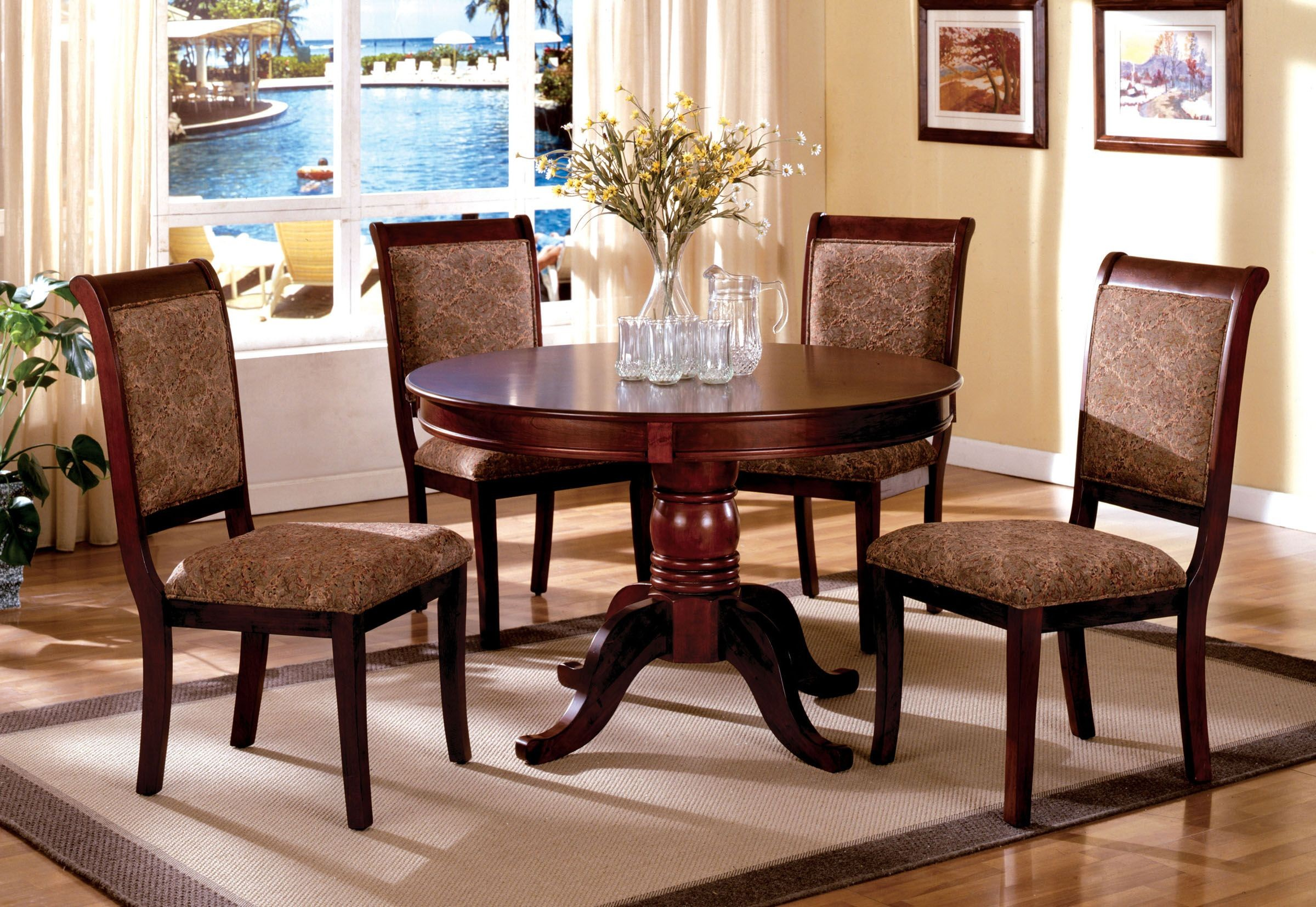 cherry wood chairs banquet chair covers in hyderabad st nicholas ii antique round pedestal dining room