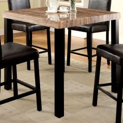 Marble Top Table With 4 Chairs Chair Covers To Hire Liverpool Rockham Ii Black Faux Square Counter Height Leg