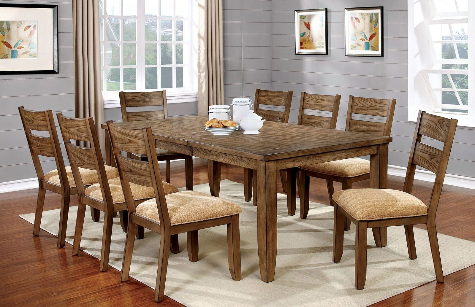 light oak dining chairs folding shower chair with arms ava room set from furniture of america