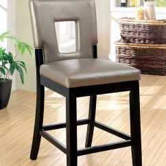 Counter Height Chairs Set Of 2 Cool Comfy Evant Ii Leatherette Chair From