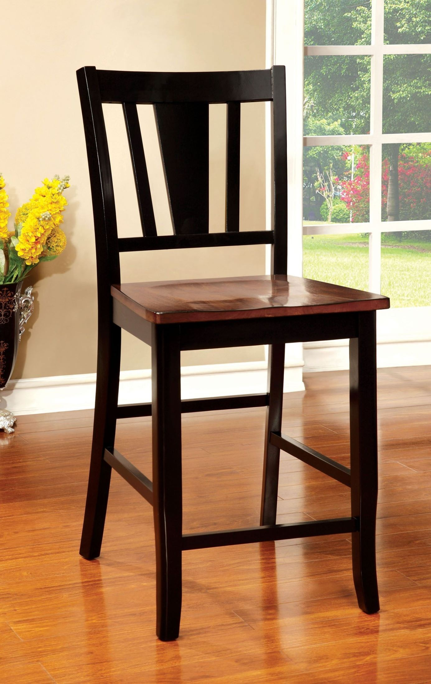 counter height chairs set of 2 lawn chair reviews dover ii black and cherry