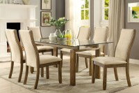 Onway Oak Rectangular Glass Top Dining Room Set, CM3461T ...