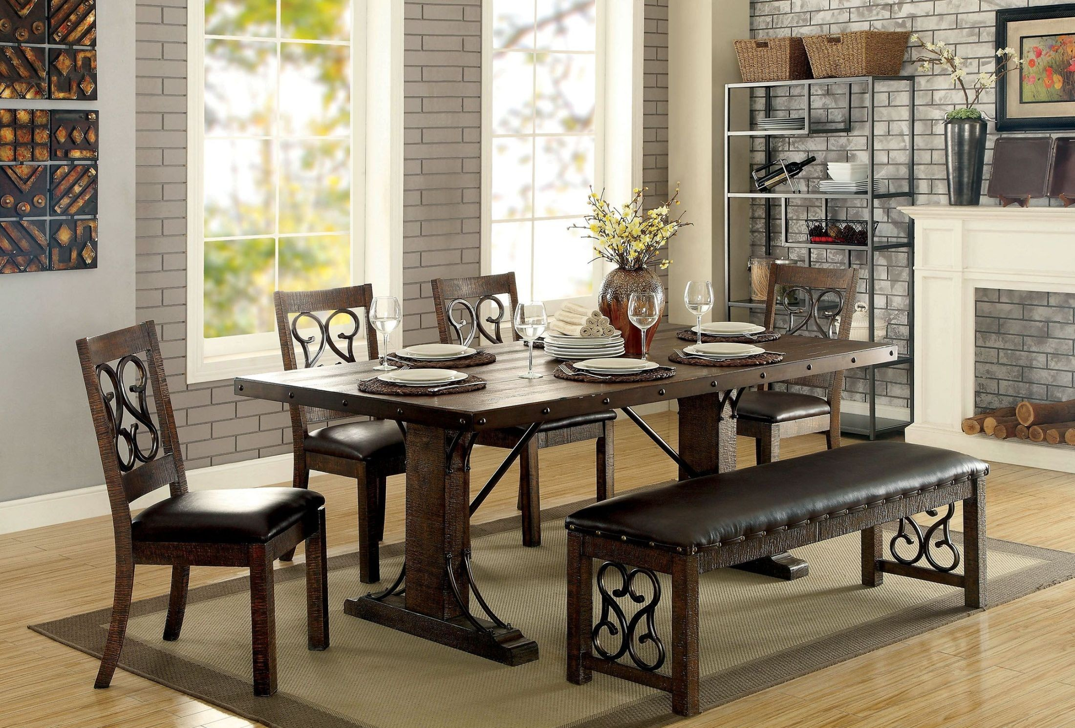 al s chairs and tables green outdoor paulina rustic walnut rectangular dining table from furniture of 2053869 2053870 2053871