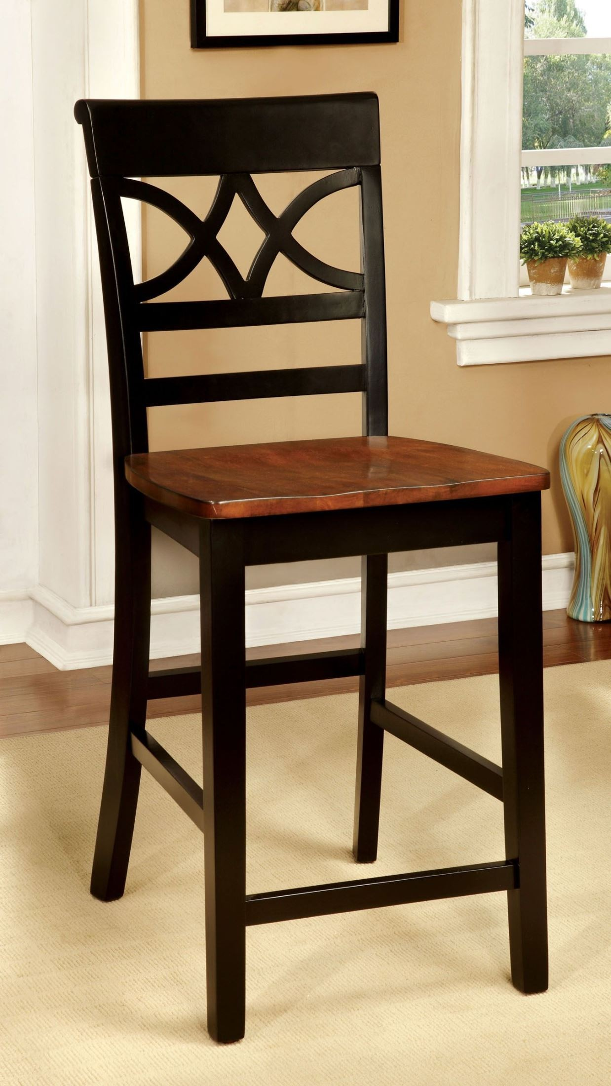 counter height chairs set of 2 ikea clear torrington ii black and cherry chair