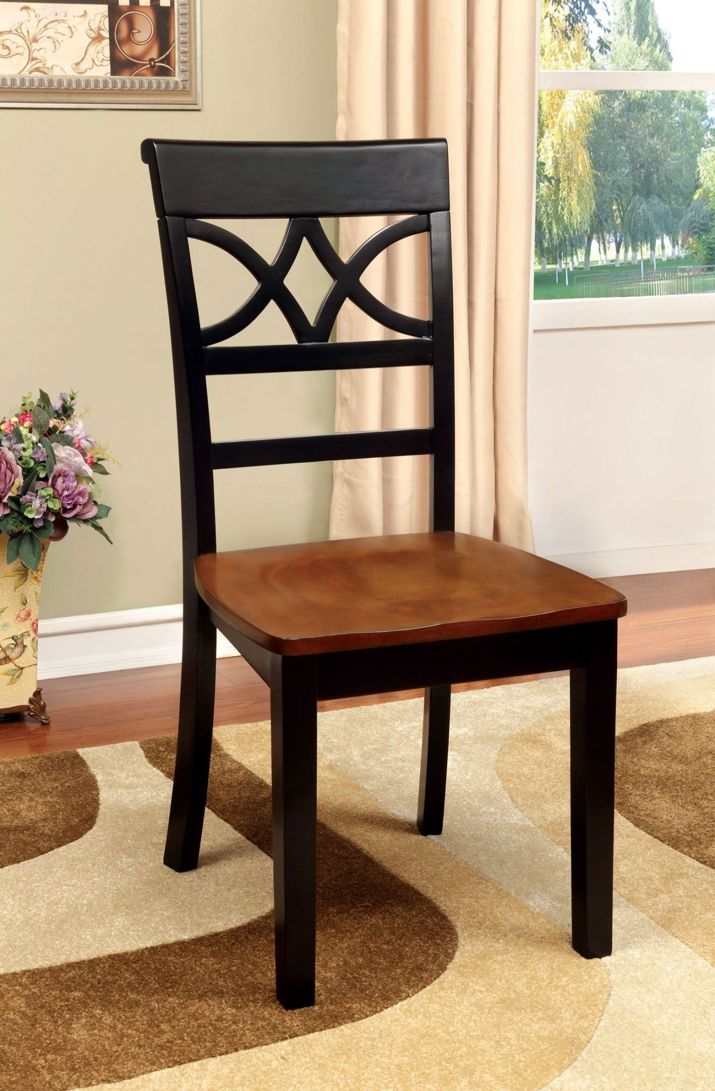 Cherry Chairs Torrington Black And Cherry Side Chair Set Of 2 From