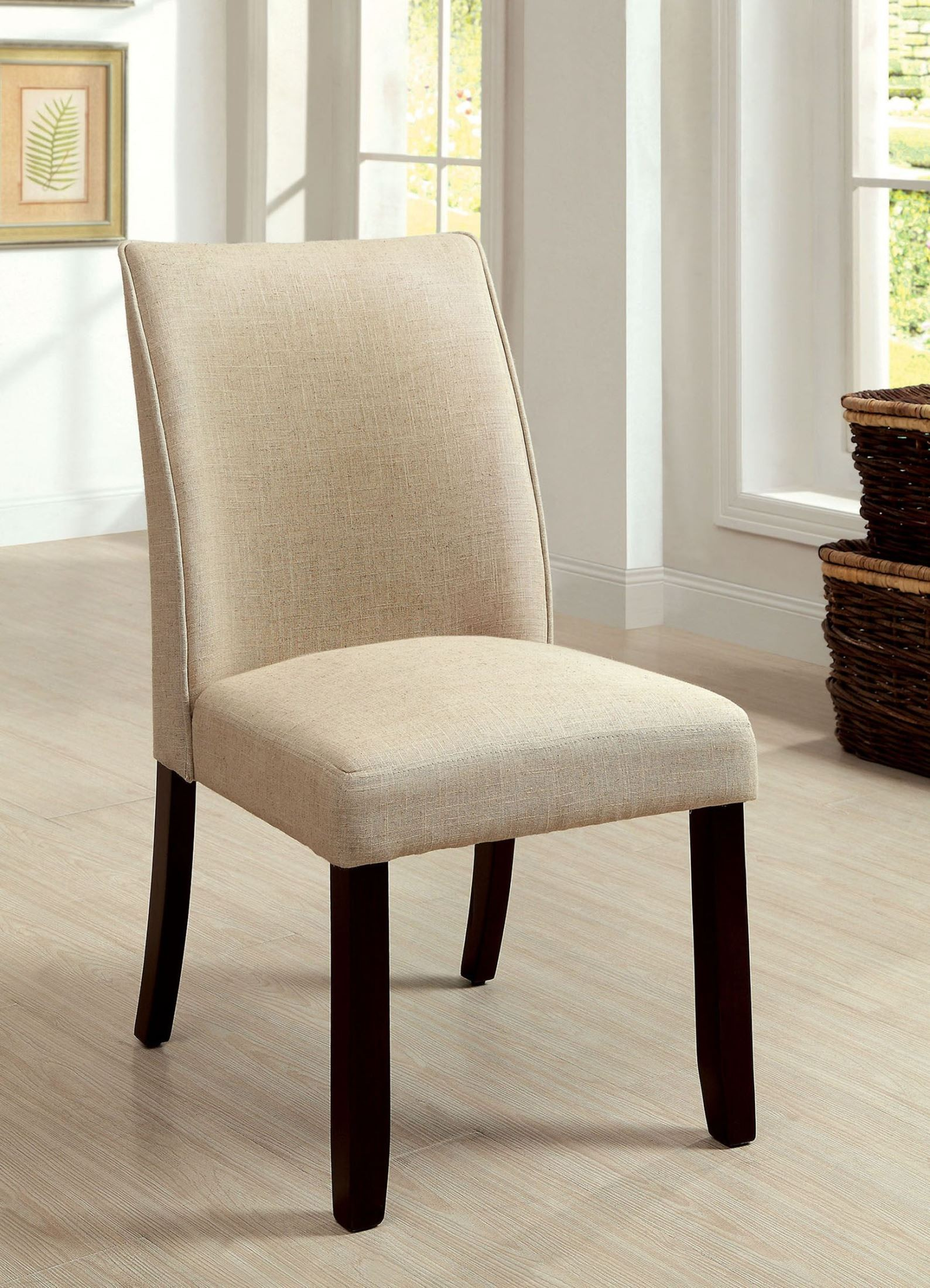 Upholstered Side Chairs Cimma Upholstered Side Chair Set Of 2 From Furniture Of