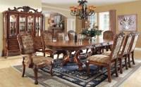 Medieve Antique Oak Rectangular Extendable Trestle Dining ...
