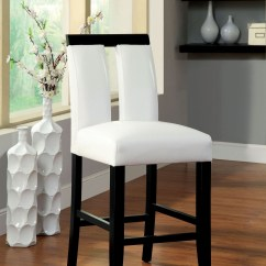 Counter Height Chairs Set Of 2 Girls Desk And Chair Luminar Ii Leatherette From