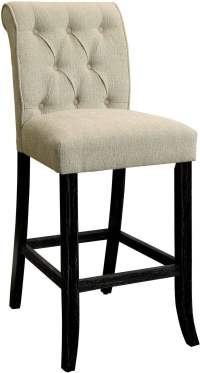 Sania III Ivory Chair Set of 2 from Furniture of America ...