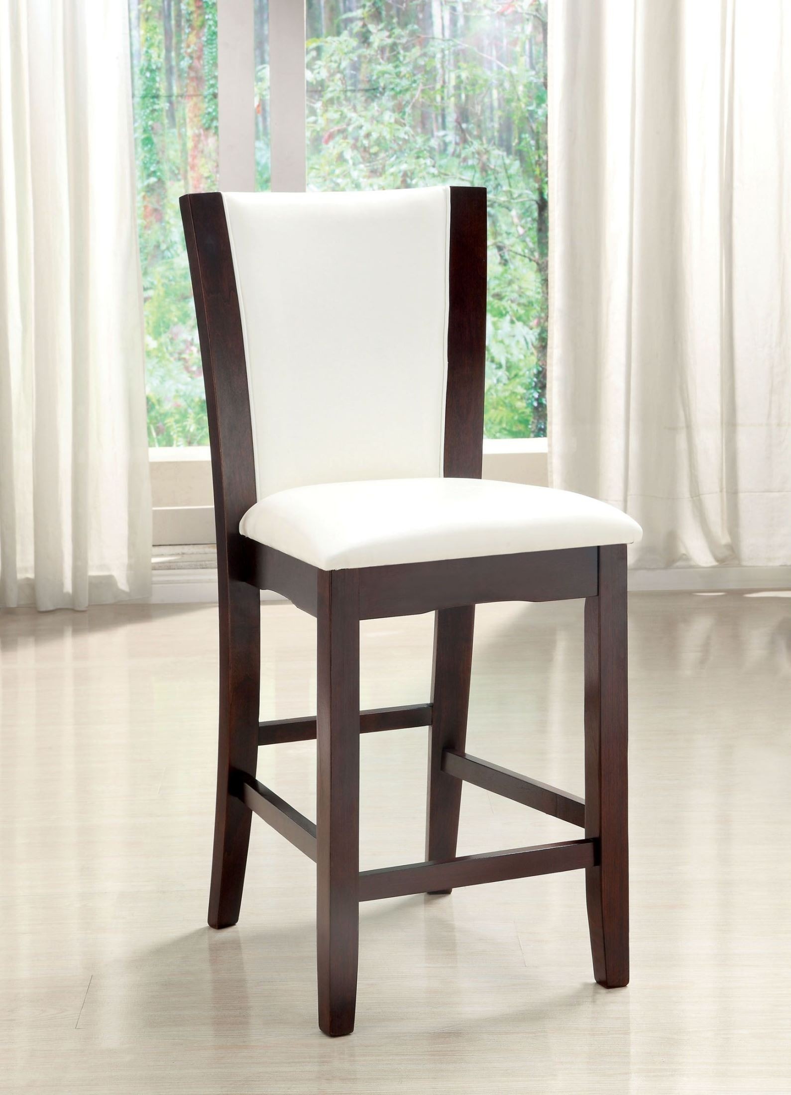 White Counter Height Chairs Manhattan Iii White Counter Height Chair Set Of 2 From