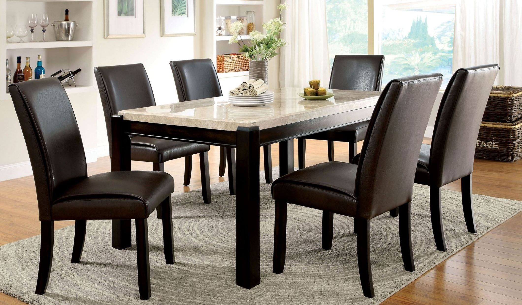 marble top table with 4 chairs chair covers cheap to buy gladstone i china dining room set from