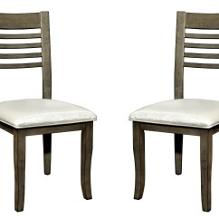 Gray Side Chair Reclining Styling Dwight Iii Set Of 2 From Furniture