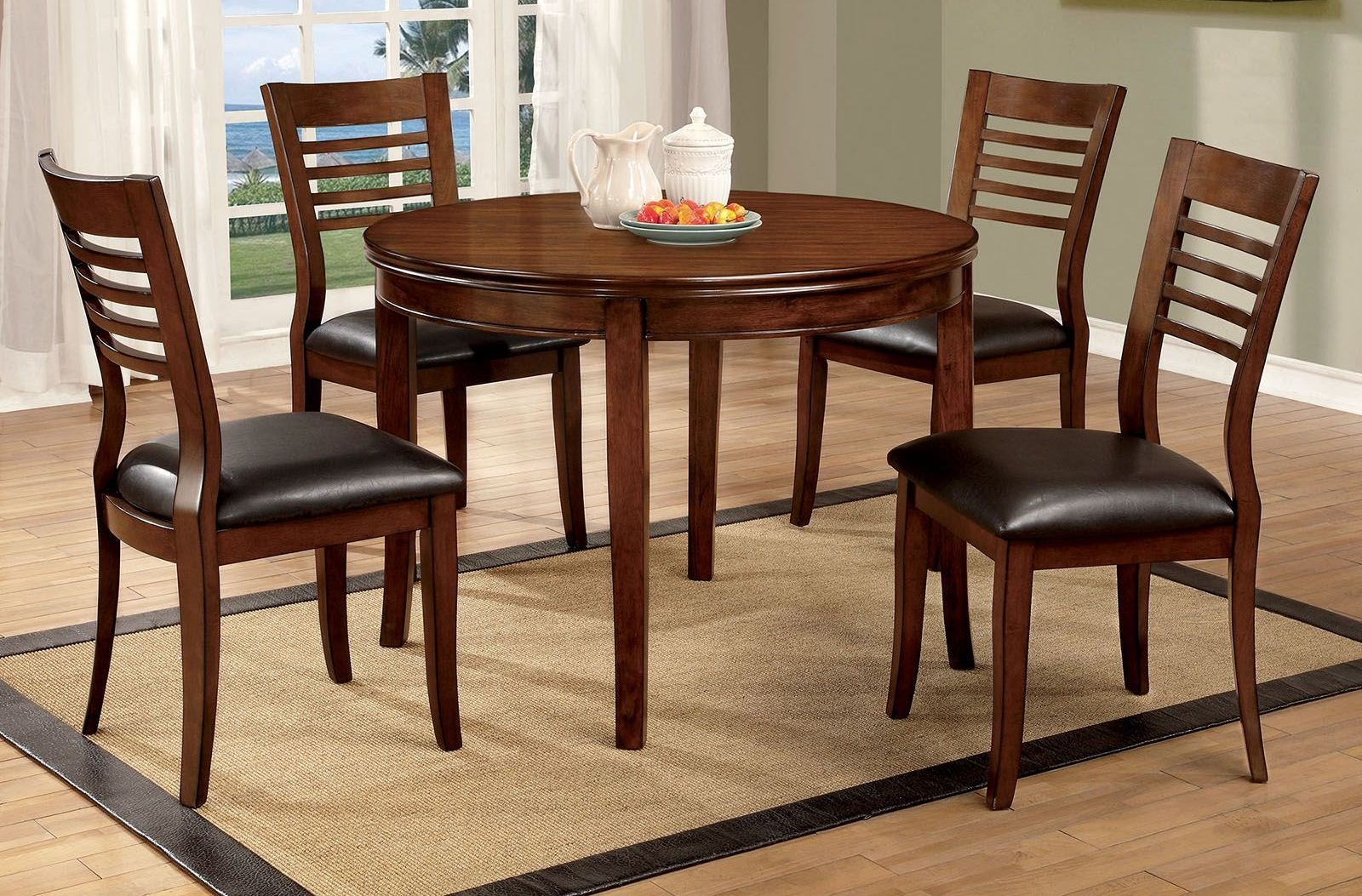 Dwight I Gray 48 Round Dining Room Set CM3988RT48 Furniture of America