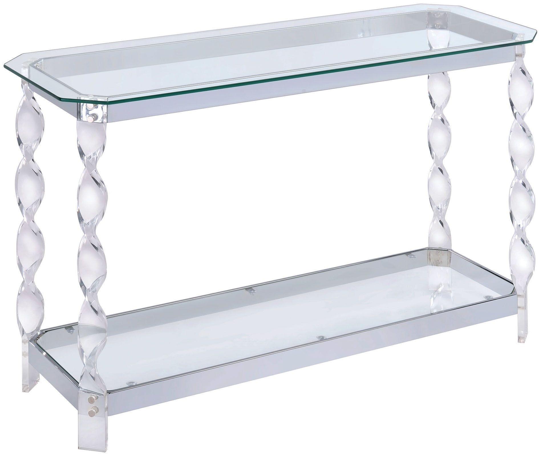 vogue chrome sofa table ikea friheten bed instructions mallow cm4357s furniture of america