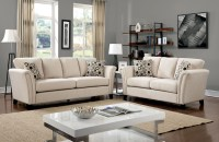 Campbell Ivory Living Room Set from Furniture of America ...