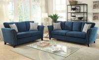 Campbell Dark Teal Living Room Set, CM6095TL-SF, Furniture ...