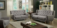 Carin Light Gray Living Room Set, CM6134LG-SF, Furniture ...