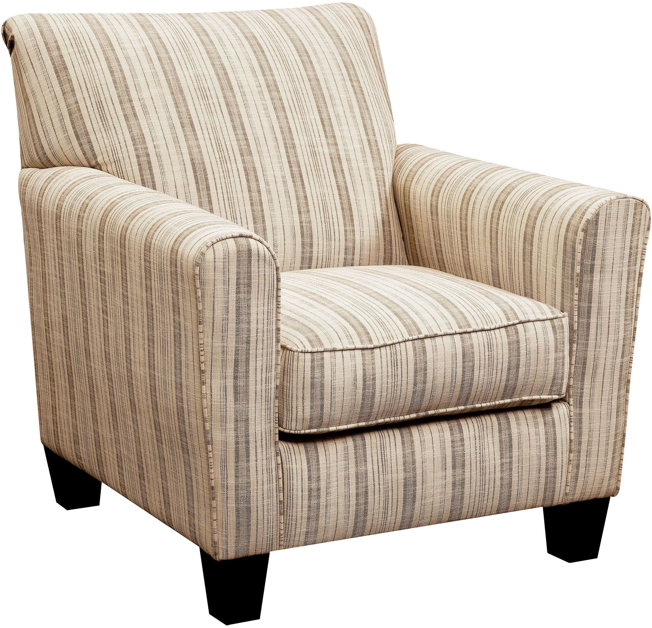 Liesl Stripe Pattern Accent Chair from Furniture of