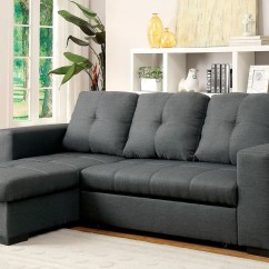 Sofa Beds On Sale Free Shipping How Much Fabric Is Needed For A Slipcover Denton Gray Sectional From Furniture Of America