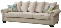Skyler Ivory Sofa from Furniture of America | Coleman ...
